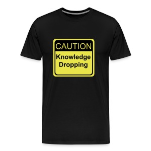 Dropping Knowledge Black & Gold - Men's Premium T-Shirt