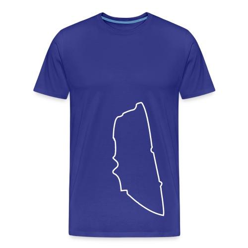 Le Mans Circuit Outline Tee - Men's Premium T-Shirt