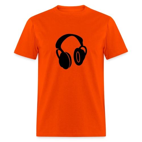Headphones Orange - Men's T-Shirt
