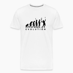 White evolution_tennis_a_1c T-Shirts