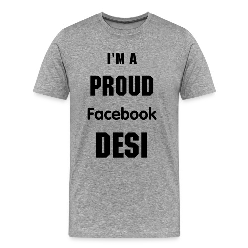 Facebook Desi - Men's Premium T-Shirt