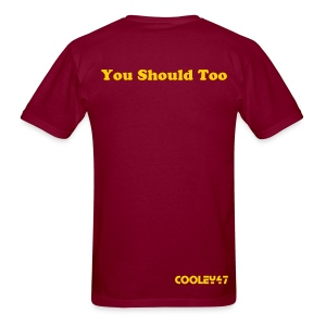 I Hate NYG Burgundy - Men's T-Shirt