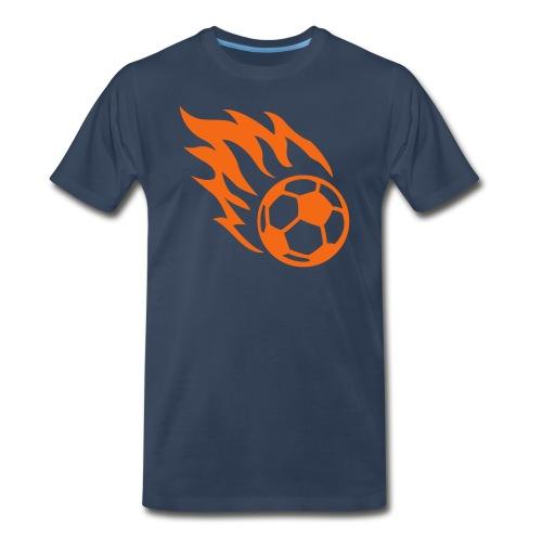 Fiery Soccerball - Men's Premium T-Shirt