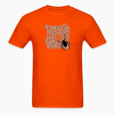 Orange Spider web T-Shirts