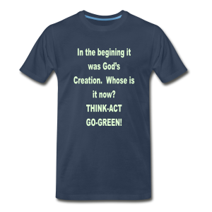 In the begining.../glows in the dark text - Men's Premium T-Shirt