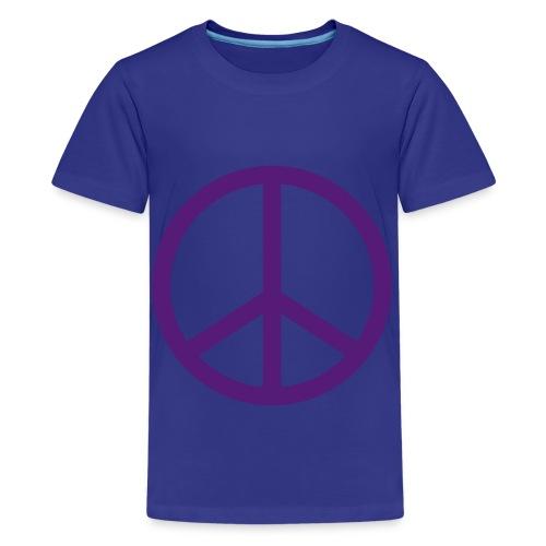 Peace sign for children shirt purple - Kids' Premium T-Shirt