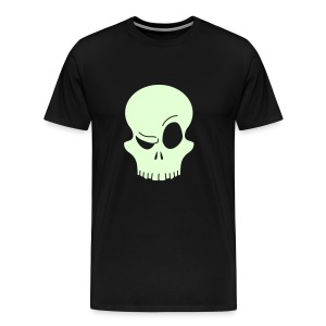 Eyebrow Skull GITD - Men's Premium T-Shirt