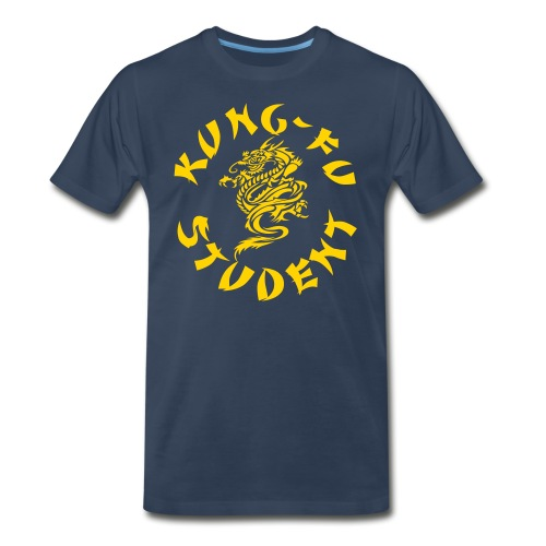 KUNG FU STUDENT SHIRT NAVY AND YELLO - Men's Premium T-Shirt