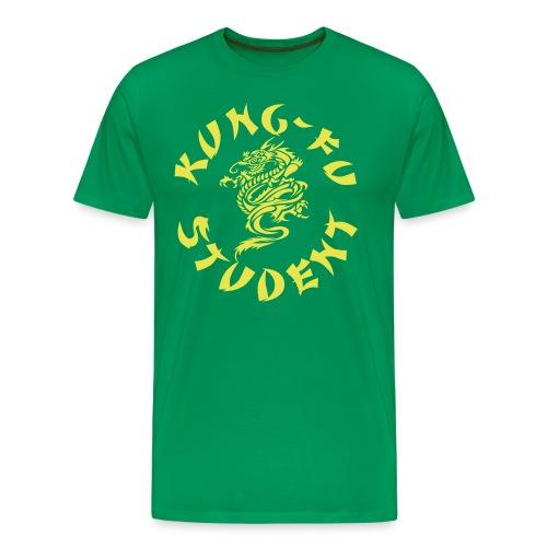 KUNG FU STUDENT SHIRT GREEN YELLOW - Men's Premium T-Shirt