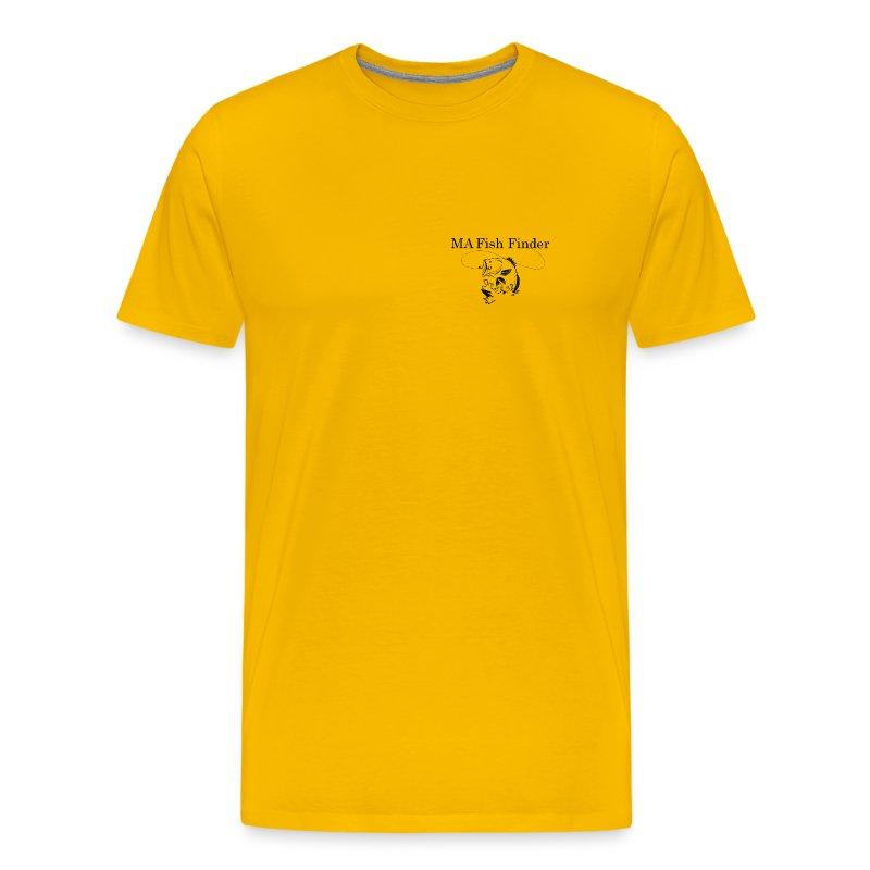 MA Fish Finder T-Shirt (Yellow) - Men's Premium T-Shirt