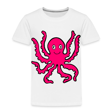 White pink octopus Toddler Shirts
