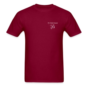 NY Fish Finder T-Shirt (Burgundy) - Men's T-Shirt