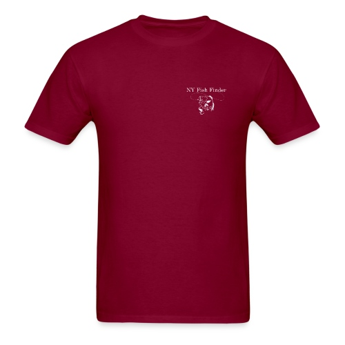 NY Fish Finder T-Shirt (Burgundy) - Men's T-Shirt