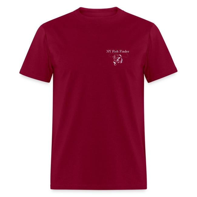 NY Fish Finder T-Shirt (Burgundy)
