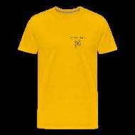 T-Shirts ~ Men's Premium T-Shirt ~ NY Fish Finder T-Shirt (Yellow)