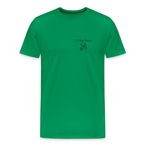 NY Fish Finder T-Shirt (Sage) - Men's Premium T-Shirt