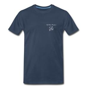 NJ Fish Finder T-Shirt (Navy) - Men's Premium T-Shirt