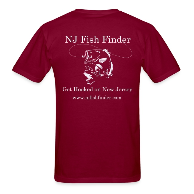 NJ Fish Finder T-Shirt (Burgundy)
