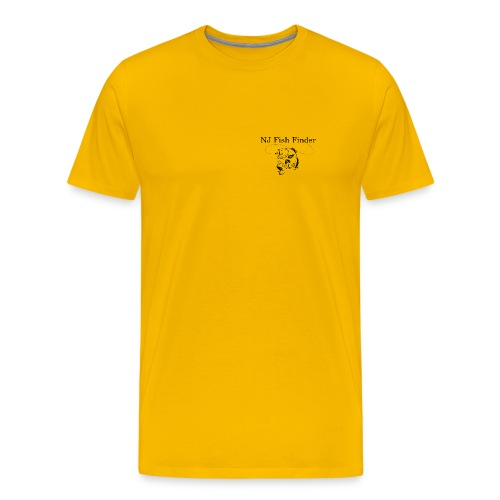 NJ Fish Finder T-Shirt (Yellow) - Men's Premium T-Shirt