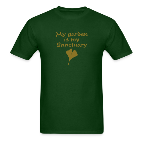 My Garden is my Sanctuary T-Shirt (Gold) - Men's T-Shirt
