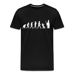 Darwin vs Christianity Male - Men's Premium T-Shirt