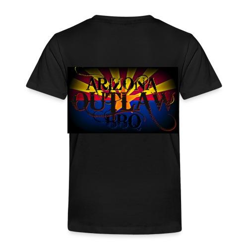 AZ Outlaw Back Only Black Toddlers Std Wt - Toddler Premium T-Shirt