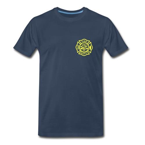 Fire/EMS Shirt (Yellow Imprint - 3XL) - Men's Premium T-Shirt
