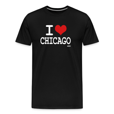 Black i love chicago by wam T-Shirts