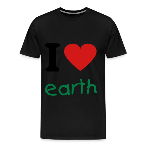 i love earth - Men's Premium T-Shirt