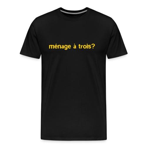 threesome - Men's Premium T-Shirt