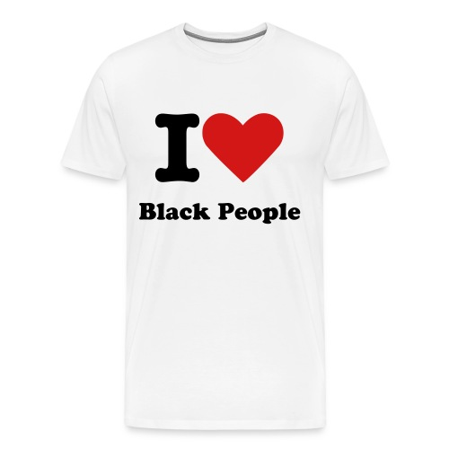 I Heart Black People - Men's Premium T-Shirt