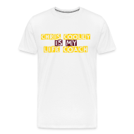 T-Shirts ~ Men's Premium T-Shirt ~ Chris Cooley is my Life Coach WHITE