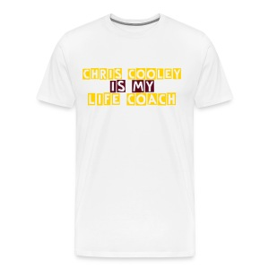 Chris Cooley is my Life Coach WHITE - Men's Premium T-Shirt