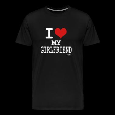 Black i love my girlfriend by wam T-Shirts