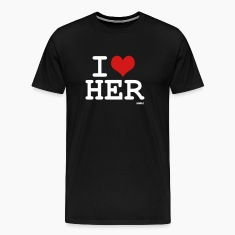 Black i love her by wam T-Shirts