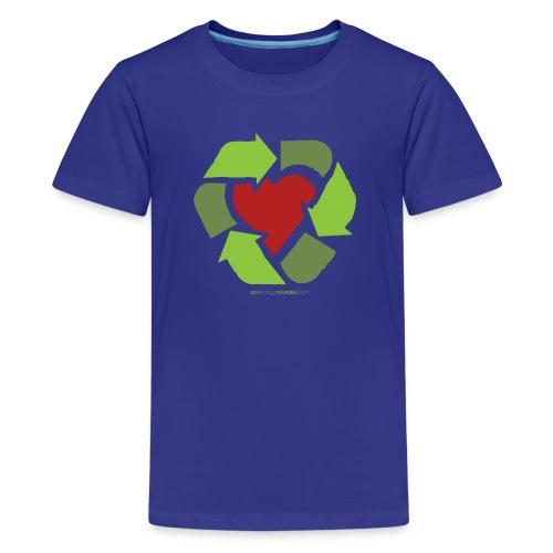 Recycle Heart - Kids' Premium T-Shirt