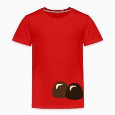 Red Chocolate Truffles Toddler Shirts