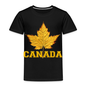 Toddler Canada T-shirt Canada Maple Leaf Baby Shirt - Toddler Premium T-Shirt