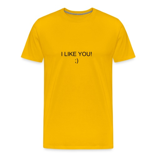 I LIKE YOU! (yellow) - Men's Premium T-Shirt