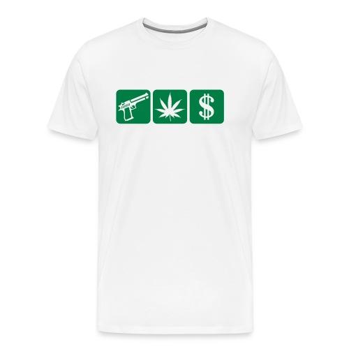 guns weed cash - Men's Premium T-Shirt