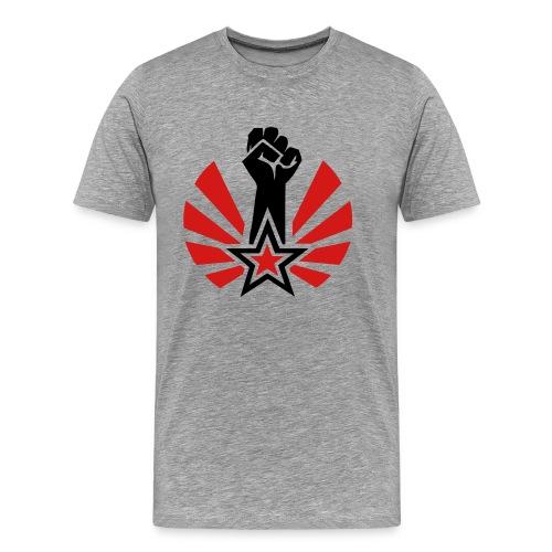 Raised & Clenched Fist 3/4XL Men's Tee - Men's Premium T-Shirt