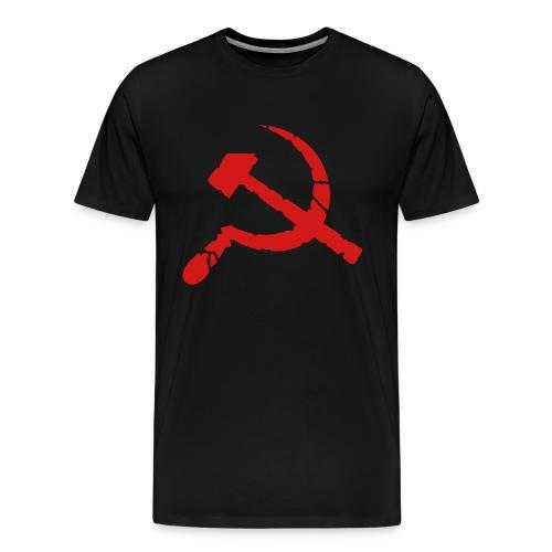 Worn Hammer & Sickle 3/4XL Men's Tee - Men's Premium T-Shirt