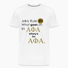 White Alpha Phi Alpha Rule T-Shirts