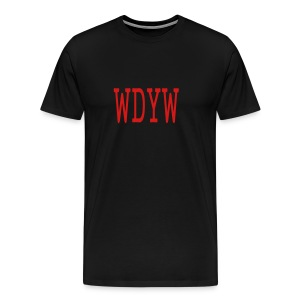 MEN`S HEAVYWEIGHT T-SHIRT - WDYW by MYBLOGSHIRT.COM - Men's Premium T-Shirt