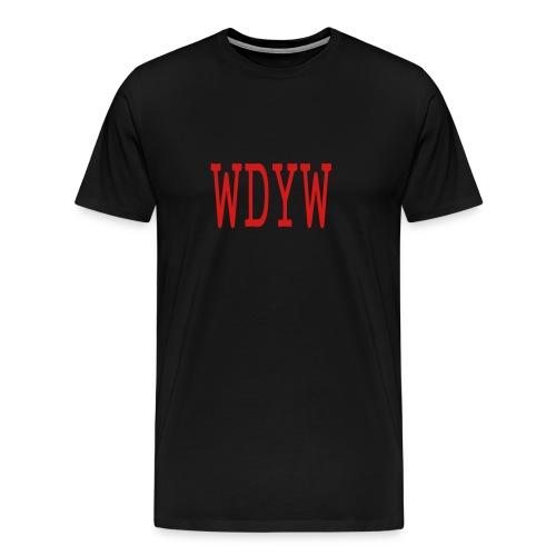 MEN`S HEAVYWEIGHT T-SHIRT - WDYW by MYBLOGSHIRT.COM - Men's Premium T-Shirt