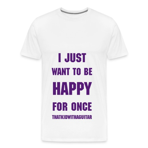 happy basic purple - Men's Premium T-Shirt