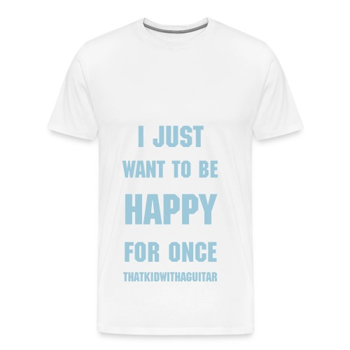 happy basic blue - Men's Premium T-Shirt
