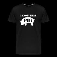 T-Shirts ~ Men's Premium T-Shirt ~ Pig - Black - Men's