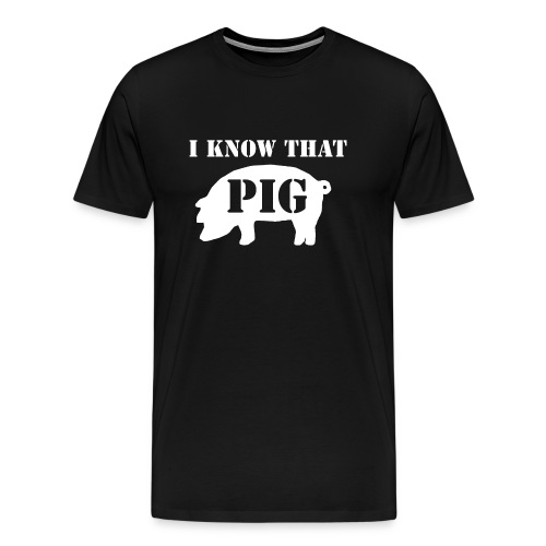 Pig - Black - Men's - Men's Premium T-Shirt