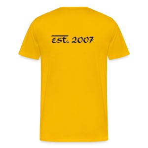 T-Shirt (Est. 2007...) [Gold/Navy] - Men's Premium T-Shirt